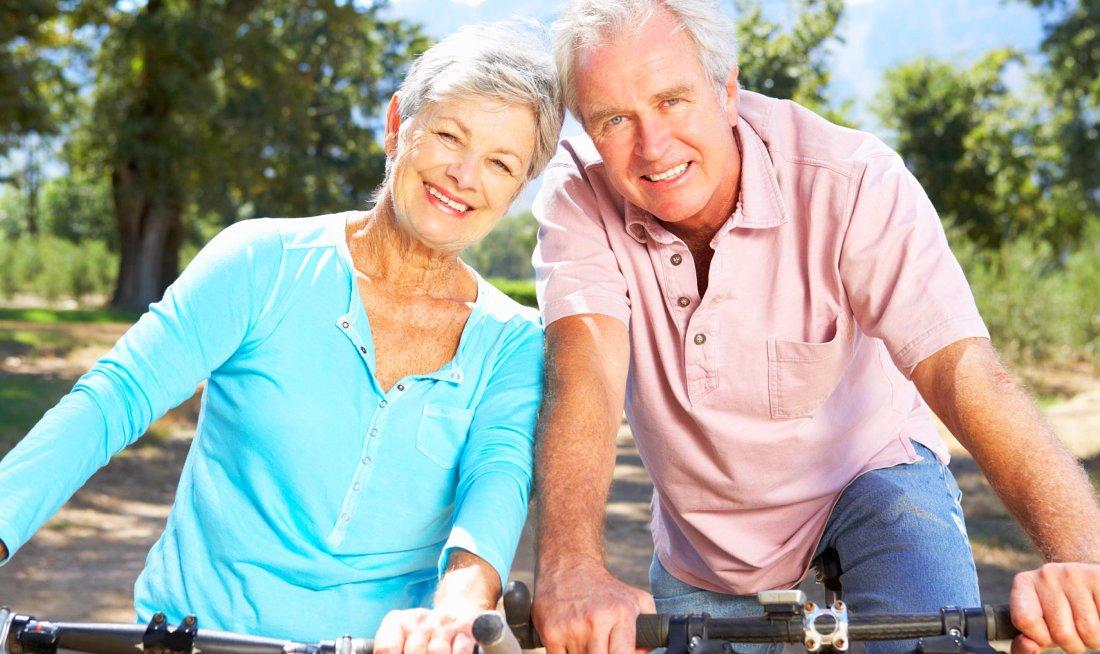 Am elderly man and elderly woman
